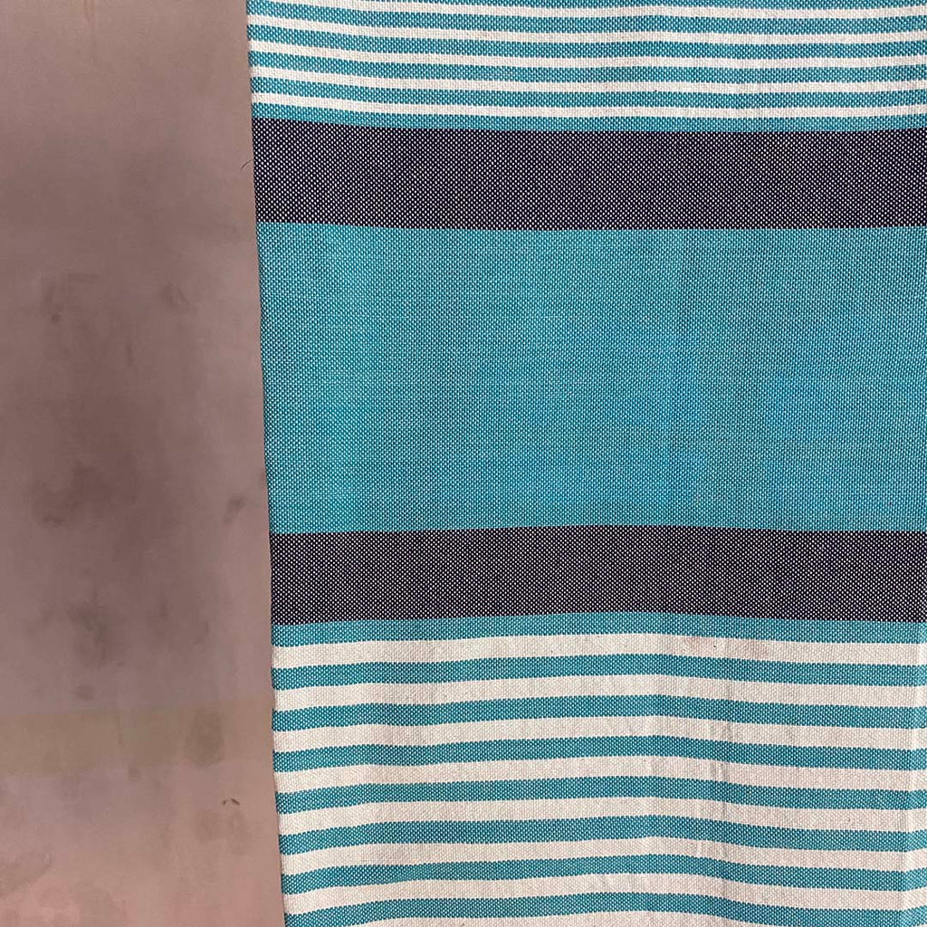 Tunisian Towel - Turquoise/ Denim  Homewares