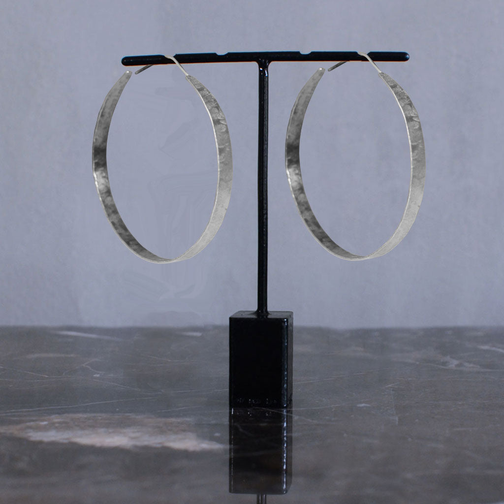 Hindu Hoop Earrings - Silver