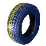 185/60R14 Highway Max - DUAL SMOKE Blue & Yellow