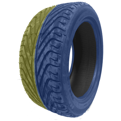 195/50R15 Highway Max - DUAL SMOKE Blue & Yellow