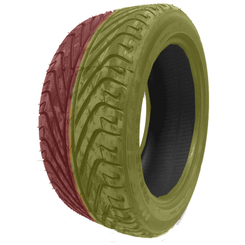 195/50R15 Highway Max - DUAL SMOKE Yellow & Red