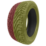 235/45R17 Highway Max - DUAL SMOKE Yellow & Red