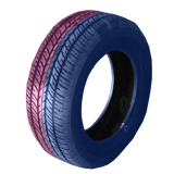 185/60R14 Highway Max - DUAL SMOKE Blue & Pink