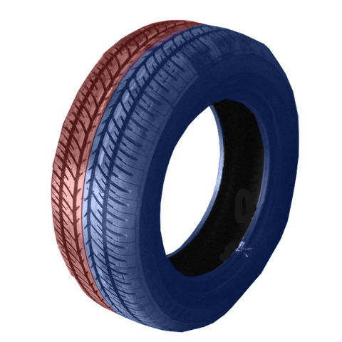 185/60R14 Highway Max - DUAL SMOKE Blue & Red