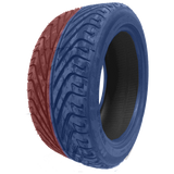 195/50R15 Highway Max - DUAL SMOKE Blue & Red