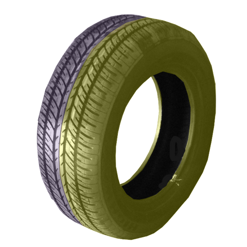 185/60R14 Highway Max - DUAL SMOKE Yellow & Purple