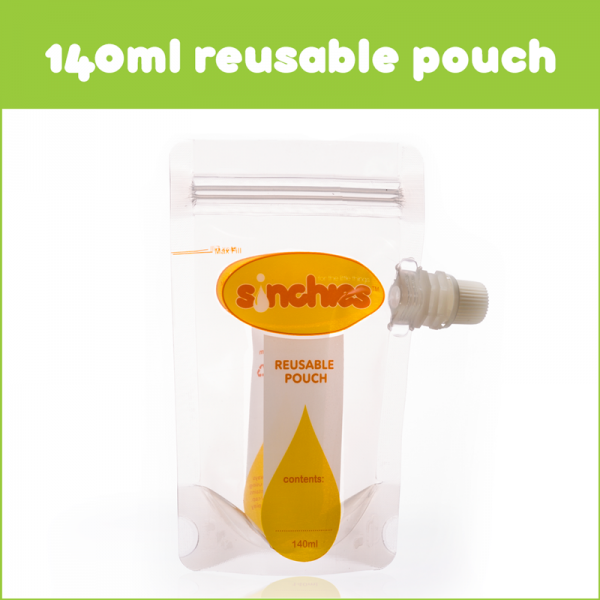 Sinchies 140ml Reusable Food Pouch (10x140ml)