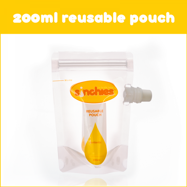 Sinchies 200ml Reusable Food Pouch (10x200ml)