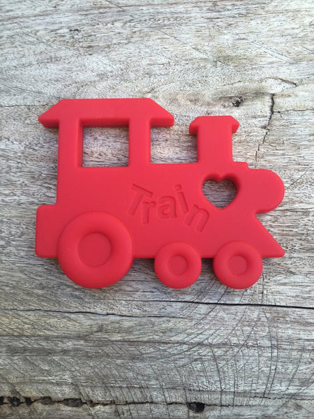Bubba Chew Teether - Train (Red)