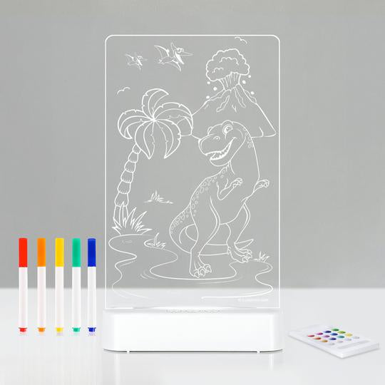 Aloka | LED Colour Me & Shine Night Light - Dinosaur