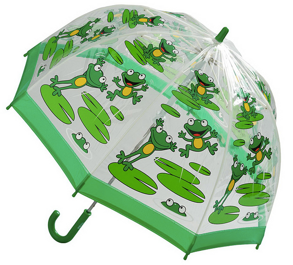 Kids Clear PVC Birdcage Umbrellas - Frogs
