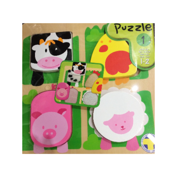 Wooden Puzle - Farm Animals (1-2 year olds)