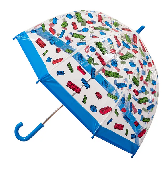 Kids Clear PVC Birdcage Umbrellas - Building Blocks