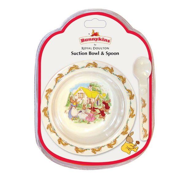 Royal Doulton | Bunnykins Melamine Suction Bowl & Spoon Set