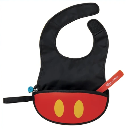 b.box | Travel Bib & Spoon - Mickey Mouse