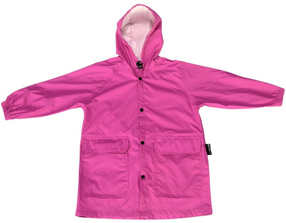 SPLASH It | Kids Fold Away Compact Rain Coat - Raspberry