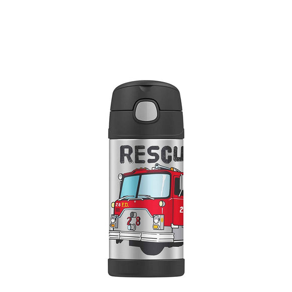 Thermos FUNtainer Straw Bottle - Fire Engine
