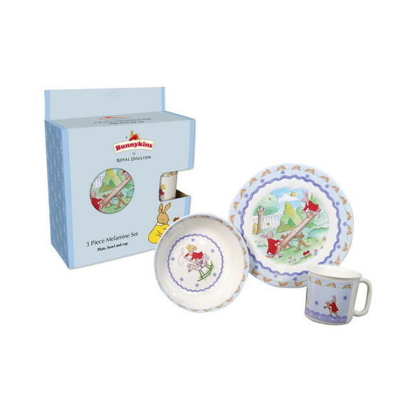 Royal Doulton | Bunnykins Melamine 3 Piece Set - Blue