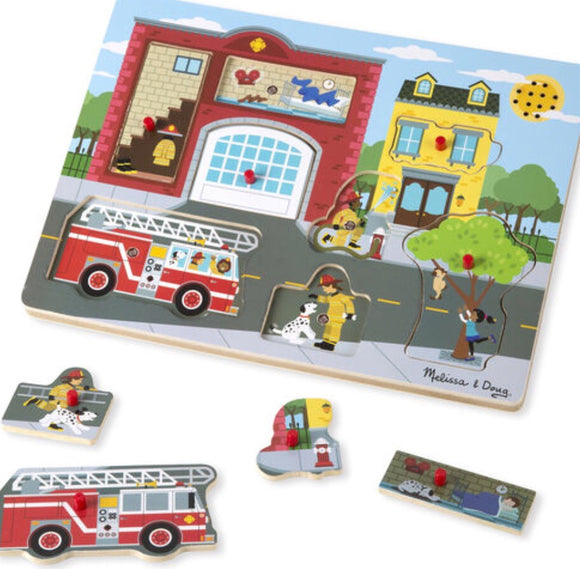 Melissa & Doug | Fire Station Puzzle with Sounds