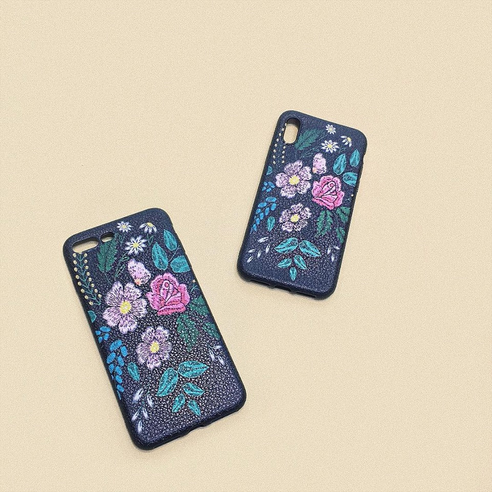 COSMO FLOWERS iPhone Case