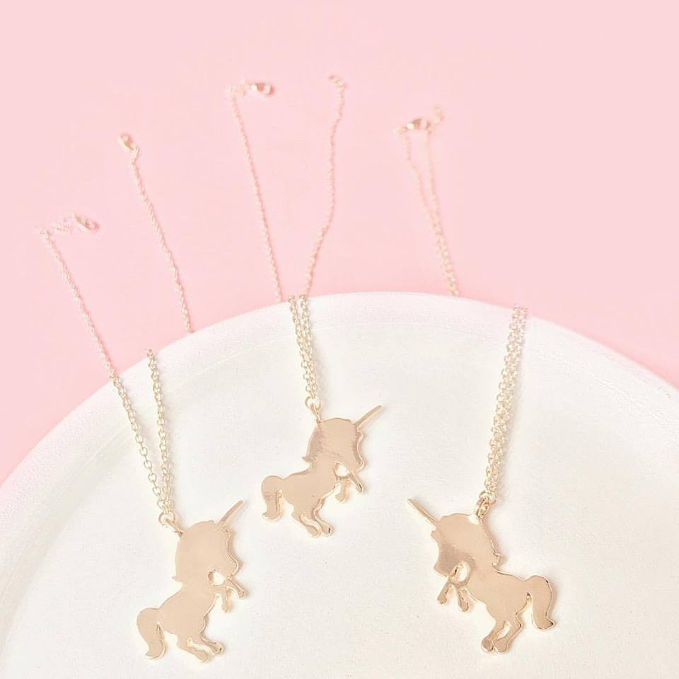 Gold Unicorn Pendant Necklace