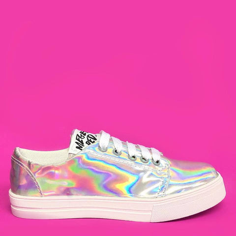 MR Holographic Lace Up Tennis Shoes
