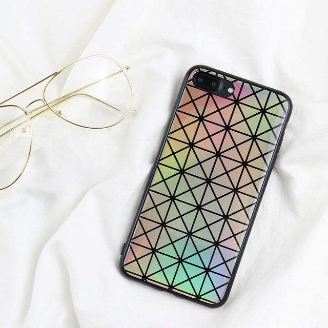 LAZER HOLO GRID iPhone Case