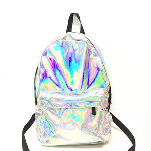 Plain Holographic Backpack