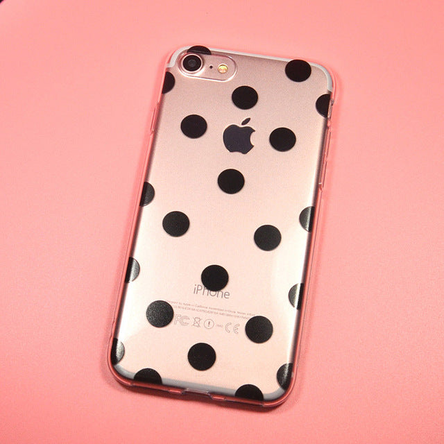 BLACK DOTS iPhone Case