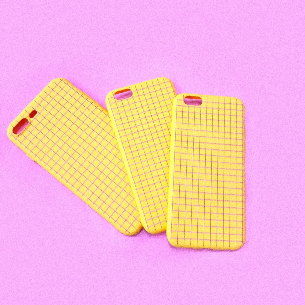 Yellow Grid iPhone Case
