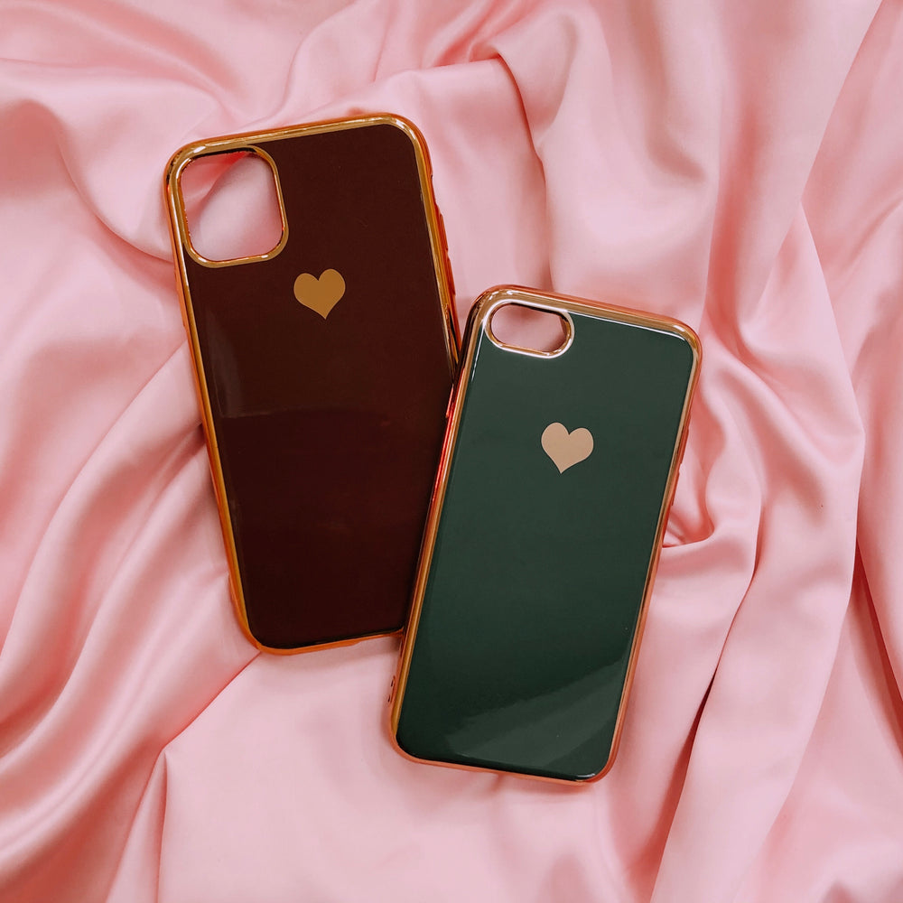 Golden Heart iPhone Case