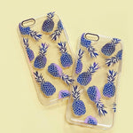 Blue Pineapple iPhone Case