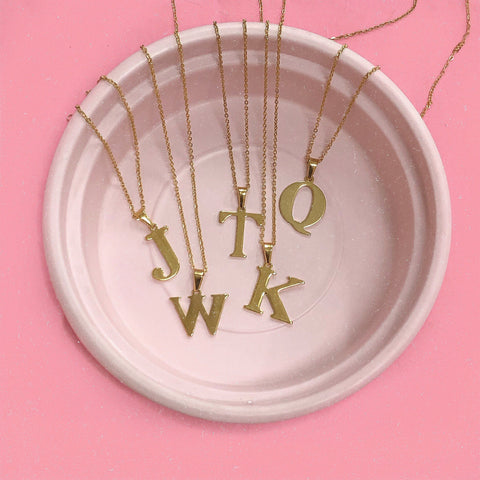 Plain Initial Necklace