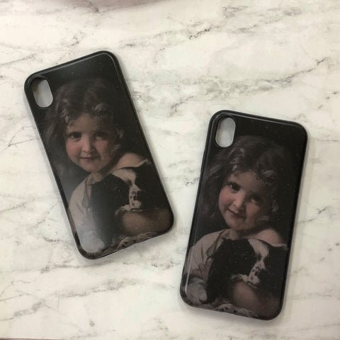 GIRL AND DOG iPhone Case