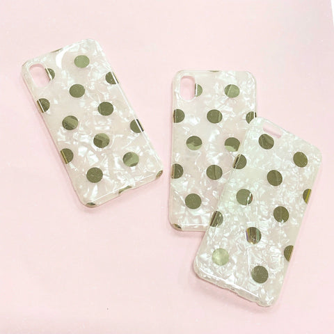 GOLD POLKA iPhone Case
