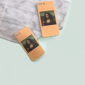 Tired Monalisa iPhone Case