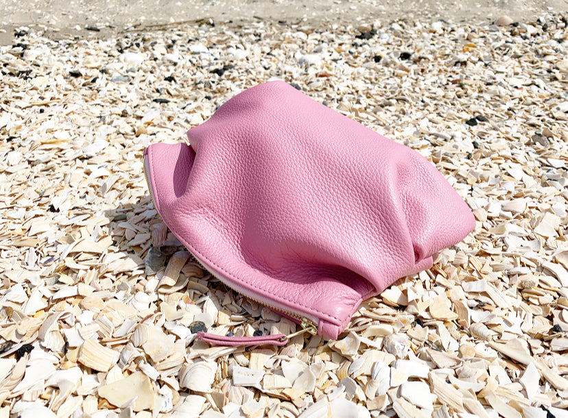 The Puff Clutch in Perfect Pink