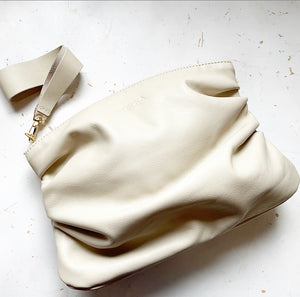 Puff Clutch in Cream