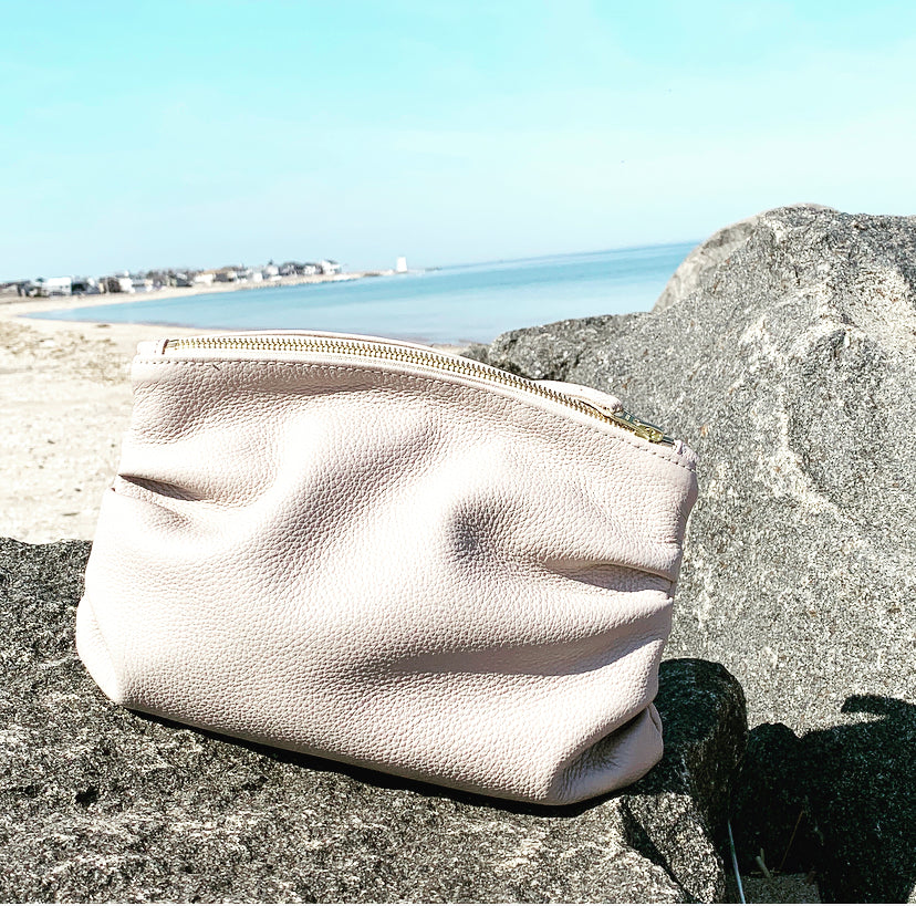 The Puff Clutch in Taupe