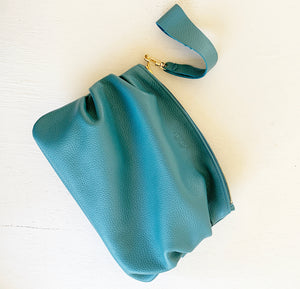 Puff Clutch in Deep Teal