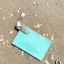 Stefka Knotted Clutch in Teal + Gold