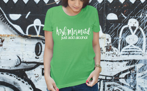 Irish Mermaid - just add alcohol Boyfriend Fit T-Shirt