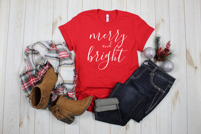 Merry & Bright Women's short sleeve t-shirt