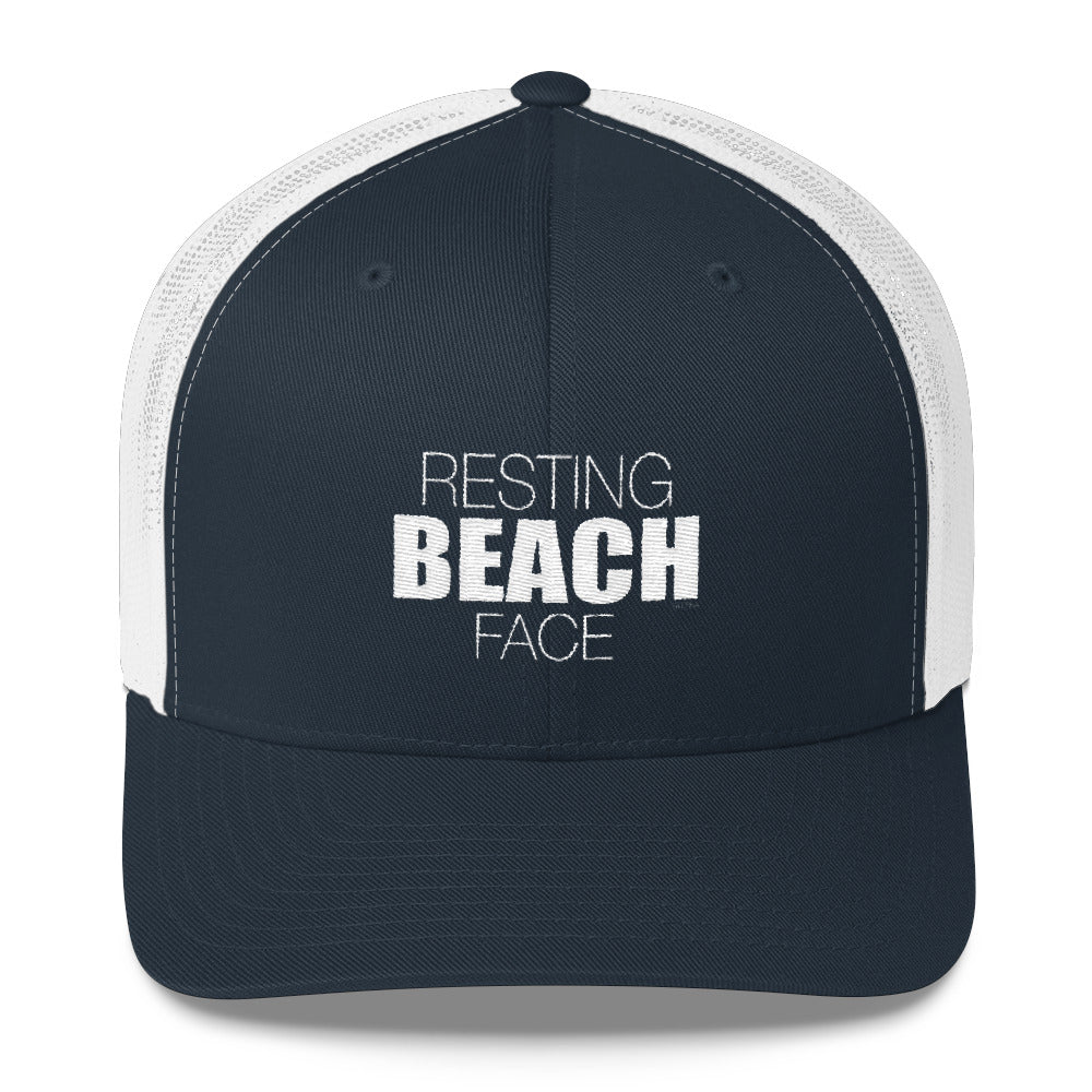 Resting BEACH Face Trucker Cap