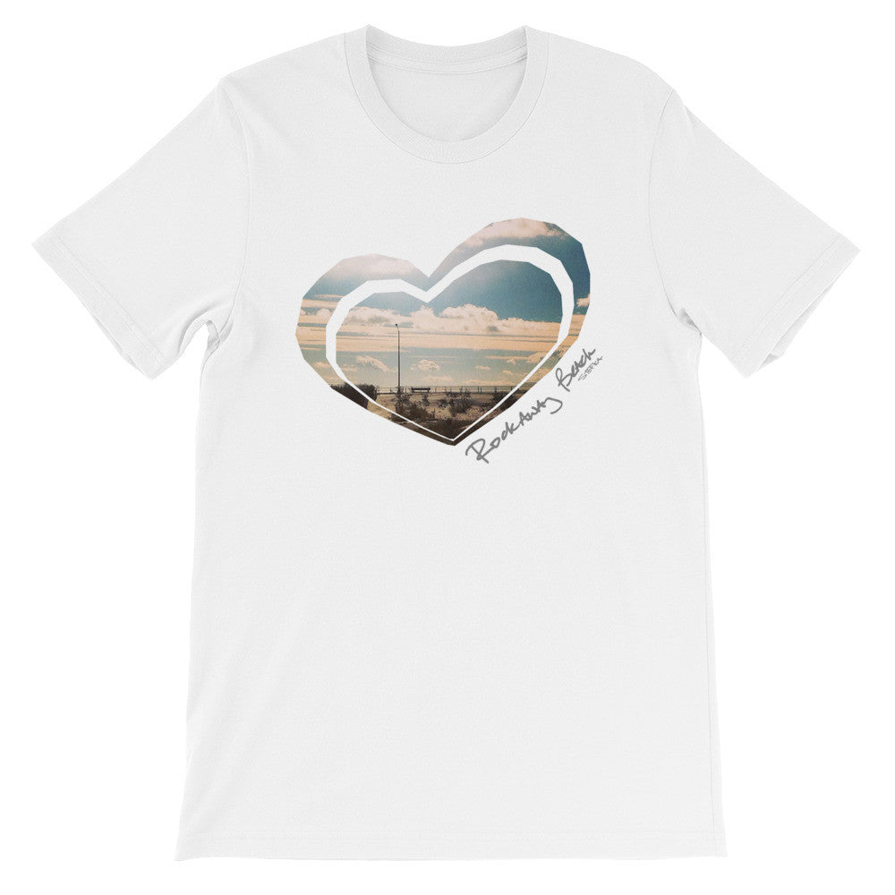 I Heart Rockaway Beach Unisex short sleeve t-shirt