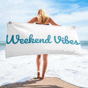 Weekend Vibes Beach Towel