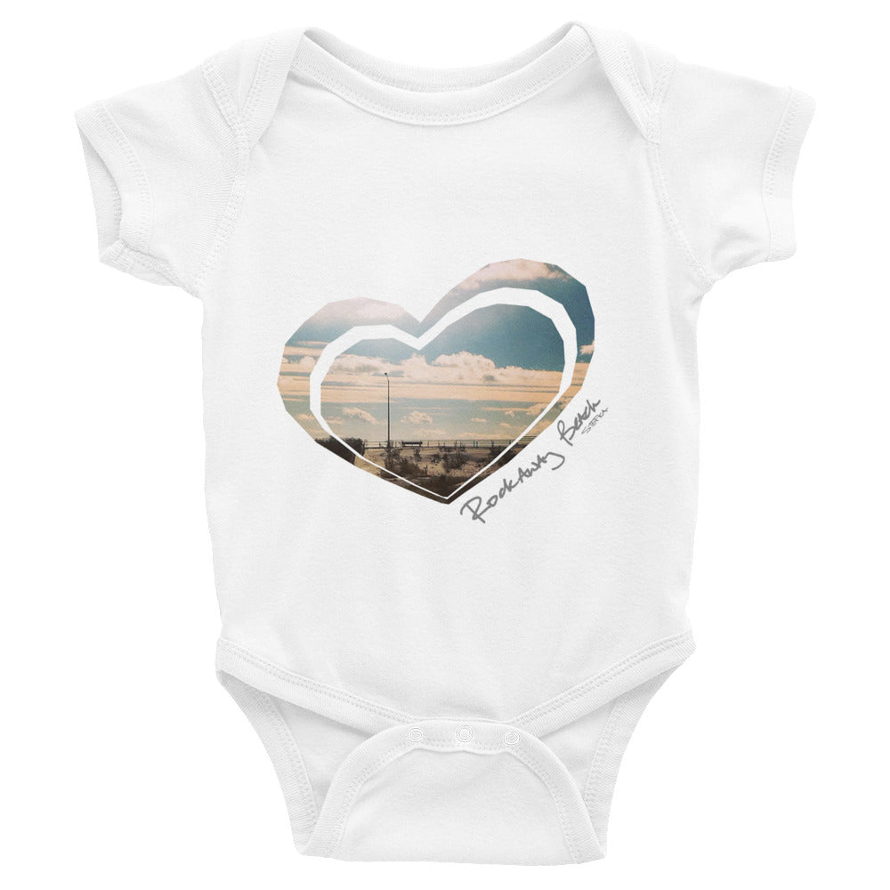 I HEART ROCKAWAY Infant Bodysuit