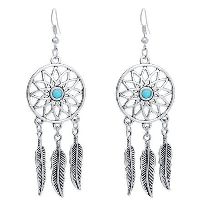 W Paire de boucles d' oreilles Dream Catcher