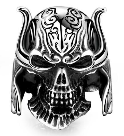 Bague Viking Skull Warrior