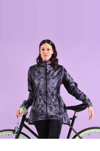 Windbreaker | Cycle wear | Snake print